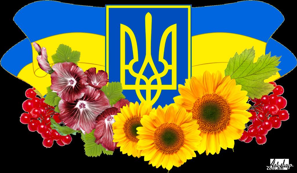 Герб і прапор з квітами калиной пнг PNG