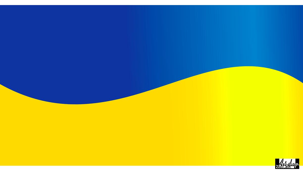 векторний прапор флаг України на прозорому фоні