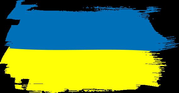 украинский флаг прозрачный вектор