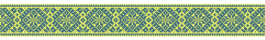 украинский орнамент лента сине-желтая