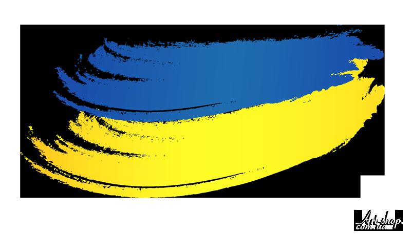 флаг Украины рисунок на прозрачном фоне